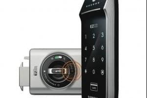 Автономный электронный дверной замок на батарейках. Обзор Samsung SHS-2320