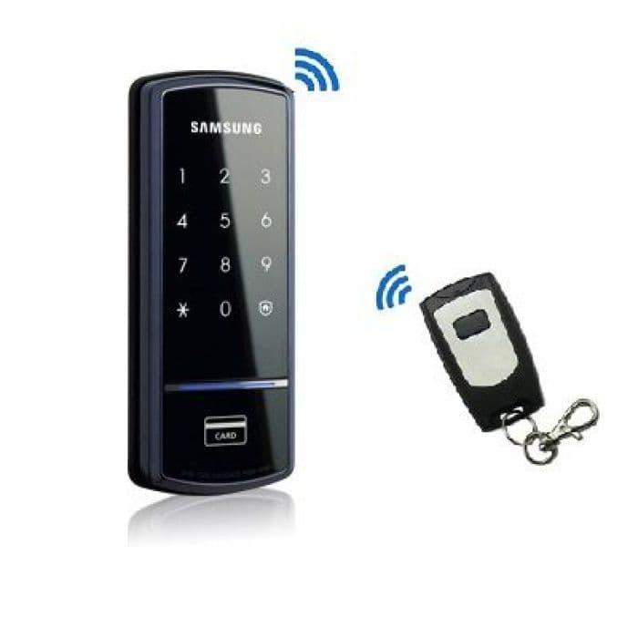 Накладной карточный радиоуправляемый замок невидимка Samsung SHS-1321W