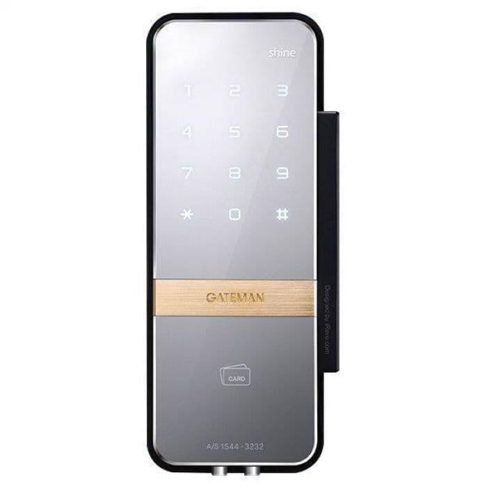 Накладной электронный замок для стеклянных дверей Irevo Gateman Shine