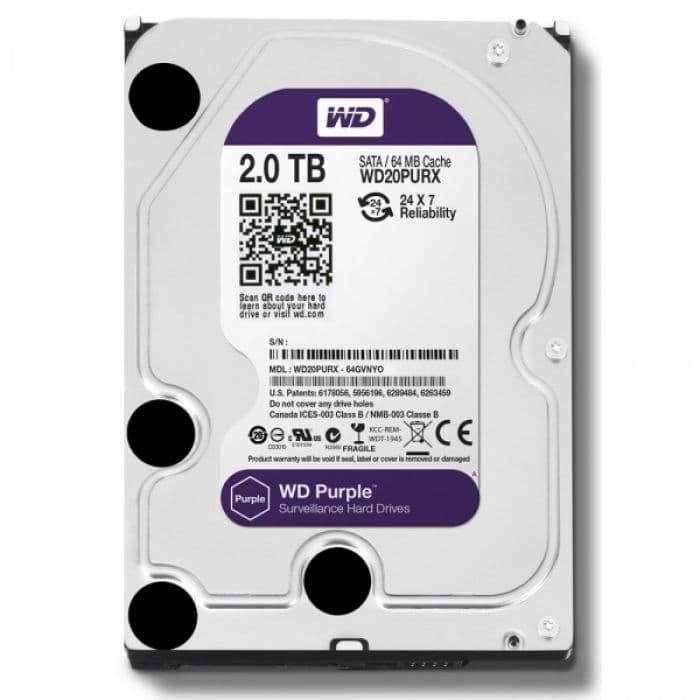 Жесткий диск для видеонаблюдения Western Digital WD20PURX