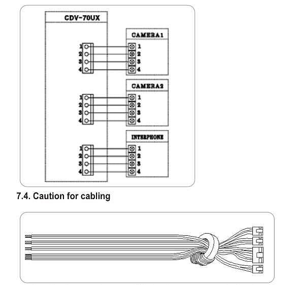 COMMAX CDV-70UX схема подключения