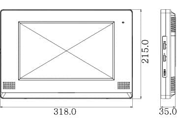 COMMAX CDV-1020AQ размеры