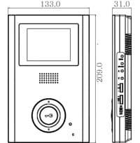 COMMAX CDV-35HM размеры