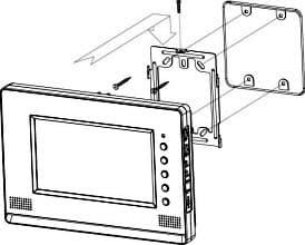 COMMAX CDV-70A установка