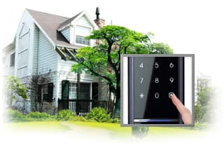 Anti-theft Mode: Simply pressing the security button before going out enhances the security during an emergency. In this anti-theft mode, any attempt to forced entry attempts or any repeated authentication failures will trigger an alarm sound.