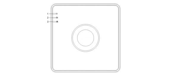 Интерфейсы верхней панели видеорегистратора HiWatch DS-N204(B)