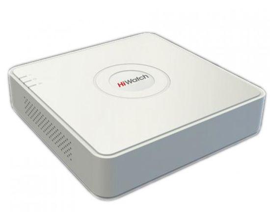 HiWatch DS-H104UA 4-канальный гибридный HD-TVI регистратор c технологией AoC (аудио по коаксиальному кабелю), фото