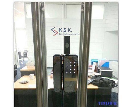 Накладной электронный замок для стеклянных дверей Irevo Gateman Shine, фото , изображение 3