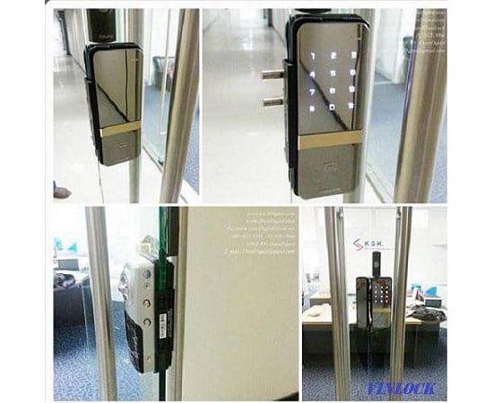 Накладной электронный замок для стеклянных дверей Irevo Gateman Shine, фото , изображение 5