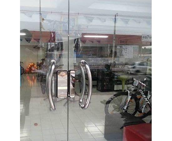 Накладной электронный замок для стеклянных дверей Irevo Gateman Shine, фото , изображение 4