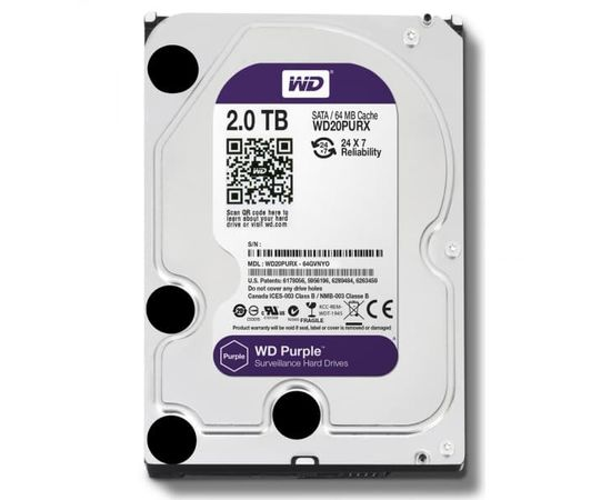 Жесткий диск Western Digital WD20PURX, фото