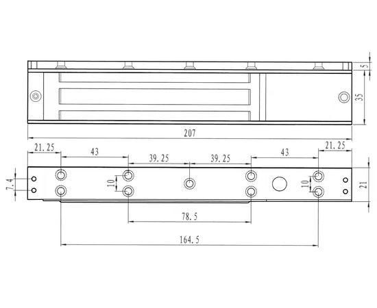 Аксессуары для электромагнитных замков Smartec ST-BRxxxI, фото , изображение 2