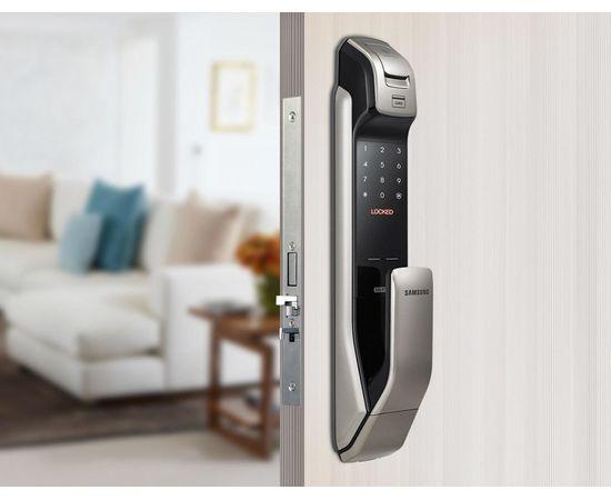 Врезной электронный дверной замок Samsung SHP-DP728 Dark Silver с отпечатком пальца, фото , изображение 5