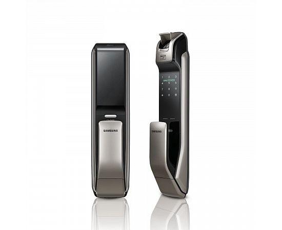 Врезной электронный дверной замок Samsung SHP-DP728 Dark Silver с отпечатком пальца, фото , изображение 3